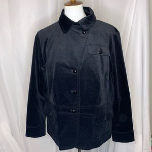Talbots Black Velvet Plus Size Jacket, 16W
